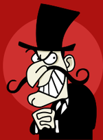 Evil villains are instantly recognisable by their top hats and outrageous moustaches.