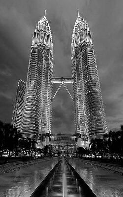 'The Petronas Twin Towers in Kuala Lumpur where Count V- crashed his Balloon, or so the Malaysian police say, I was far too drunk and too jailed to see Commissioner.'