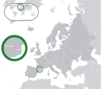 Location of Andorra in Europe